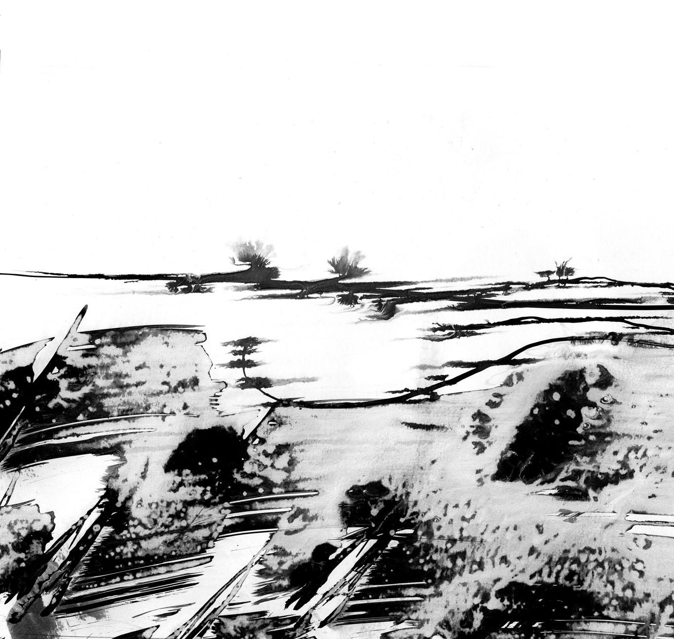 Noces De Vent Encre De Chine Chantal Legendre Chanath Artiste